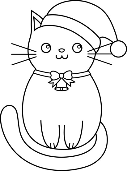 christmas cat lines