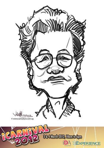 digital live caricature for iCarnival 2012  (IDA) - Day 1 - 10