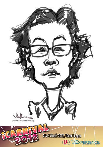 digital live caricature for iCarnival 2012  (IDA) - Day 1 - 34