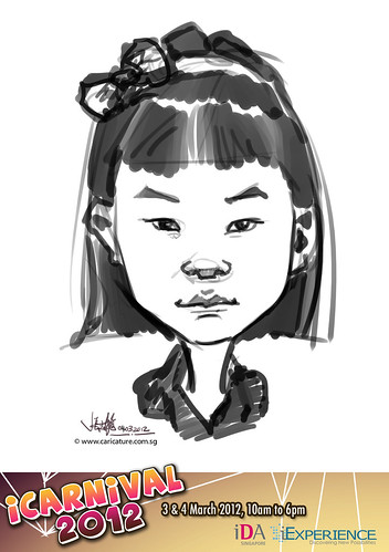 digital live caricature for iCarnival 2012  (IDA) - Day 2 - 15