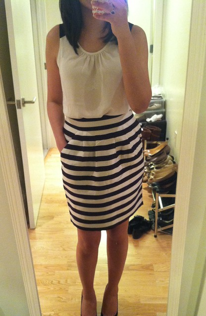 Banana Republic Striped Skirt