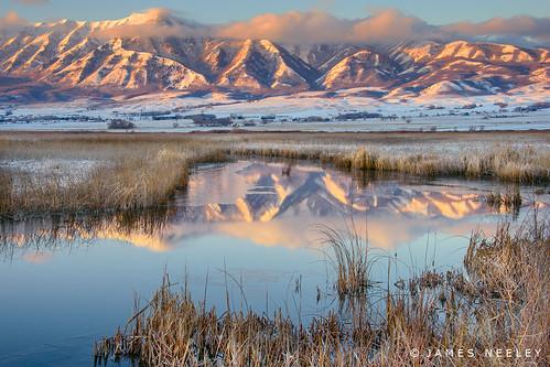 mountains sunrise landscape utah logan cachevalley flickr28 jamesneeley wellsvillemountains cutlermarsh