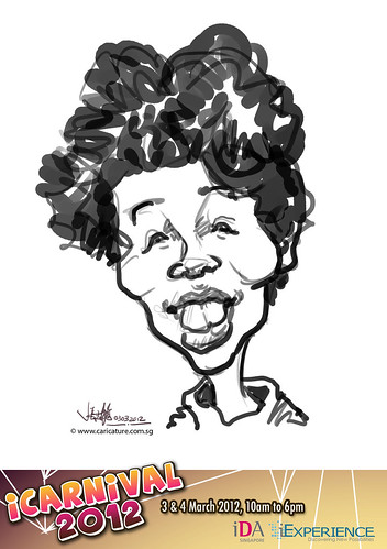 digital live caricature for iCarnival 2012  (IDA) - Day 1 - 27