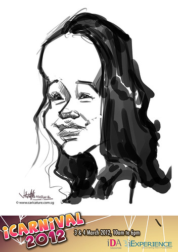 digital live caricature for iCarnival 2012  (IDA) - Day 1 - 46