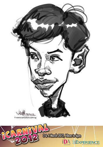 digital live caricature for iCarnival 2012  (IDA) - Day 2 - 11