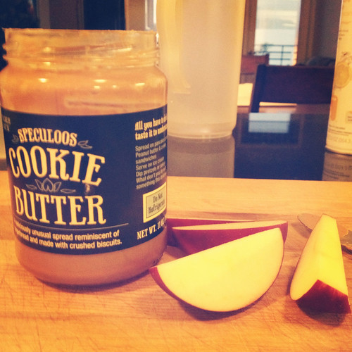 Apples and cookie butter: the best