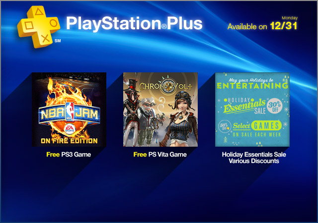 PlayStation Plus Update: 12-31-2012