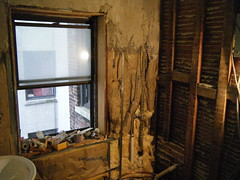 Bathroom window and wall start state