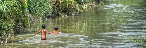 boy swimming river - photo #19