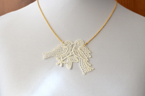 Lace Birds Necklace