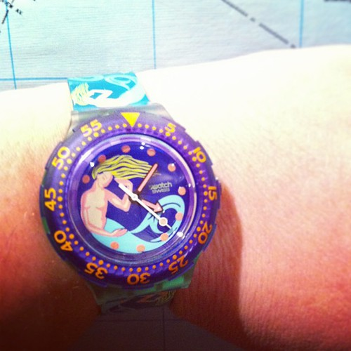 my husband gets me #swatch #mermaid #stuckinthe80s #yule #love