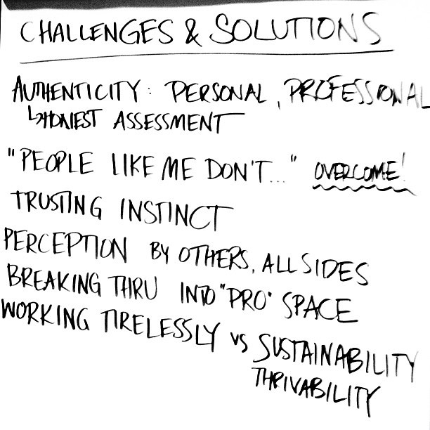 Challenges & Solutions #leadership bitches #blogher12 @deanna