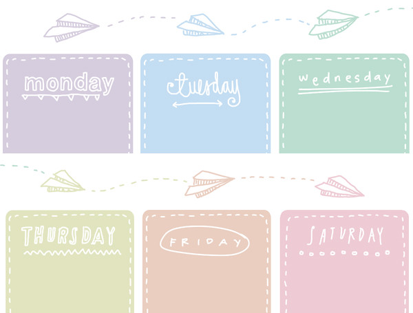 Printable Weekly Planners Cute Cute Weekly Planners Printable