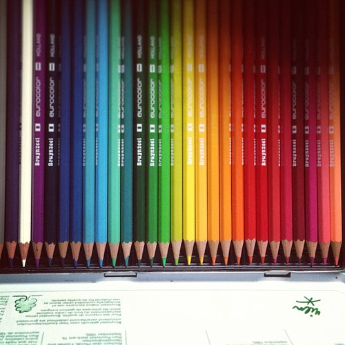 Eeeeeee!!! Colored pencils from Matt!