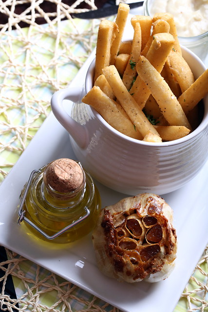 Chickpea Panisse with Roasted Garlic Aioli