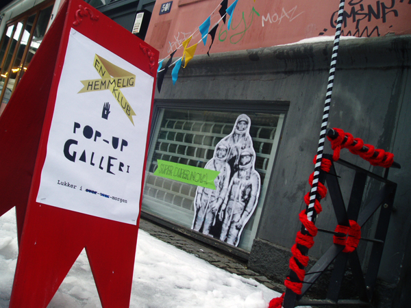 A secret club opens pop-up gallery