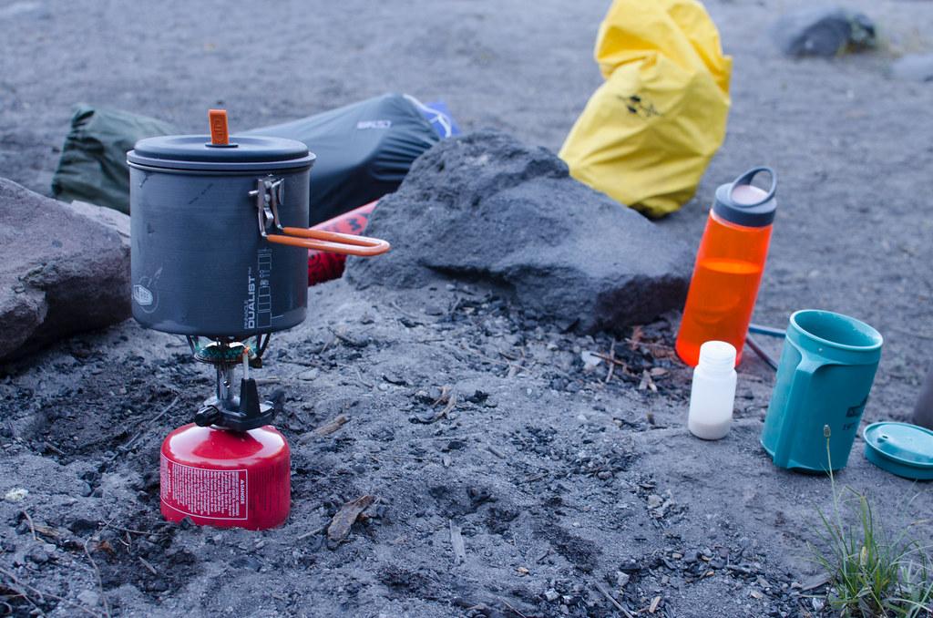utensilios de cocina para ir de camping
