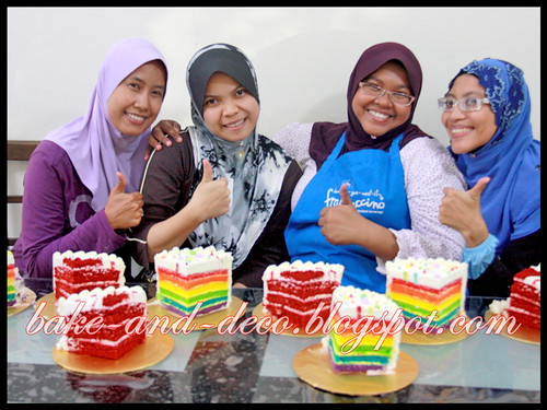 Baking Class: Rainbow Cake with Special Cream Cheese & Red Velvet Cake ~ 23 June 2012