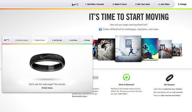 Nike+ FuelBand - Horrible Setup