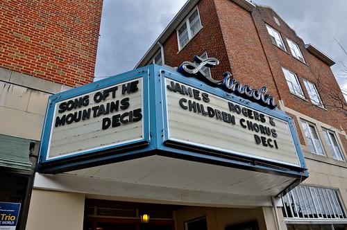 The Lincoln Theatre Marion VA Marquee