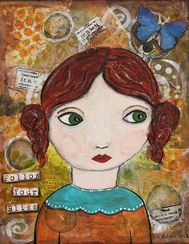 Follow Your Bliss Mixed Media Girl