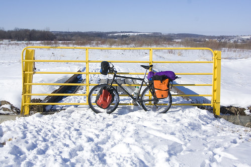 Winter bicycle touring. Brrr.