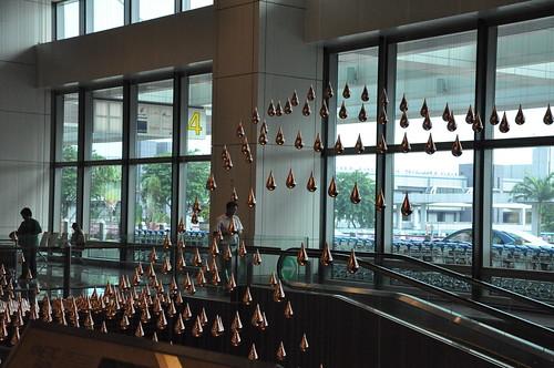 Changi Airport - Terminal 1: Moving Water Drops