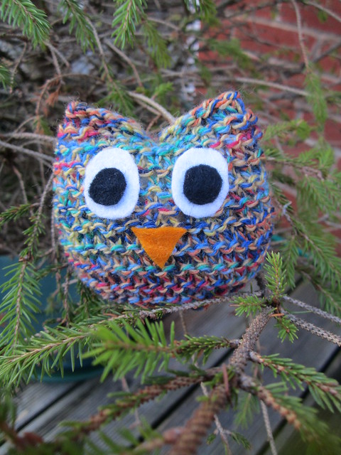 knitting club owl