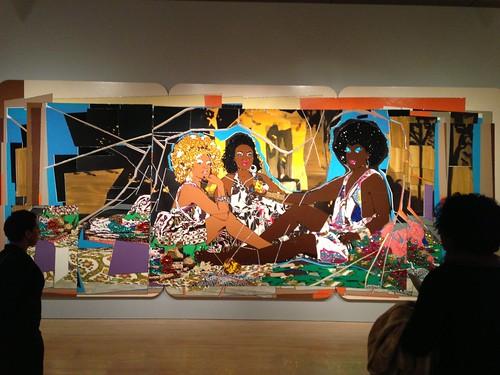 """Déjeuner sur l'herbe"" @ Mickalene Thomas show, Brooklyn Museum"