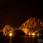 Forth Bridge at Night - Edinburgh, Scotland