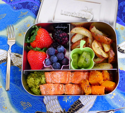 Salmon, Kabocha and Potatoes LunchBots Bento by sherimiya ♥