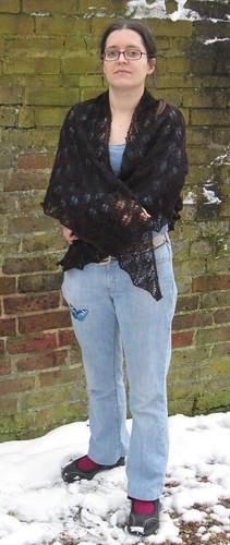 Kiri alpaca shawl