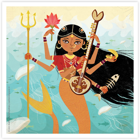 Ragamala Series | No.4: 'A Goddess of the Seas'