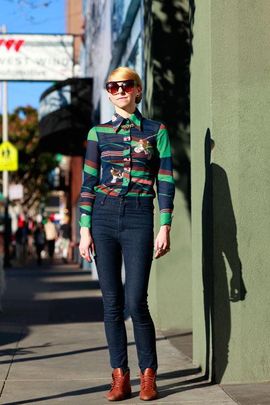 apache street style, street fashion, women, Valencia Street, San Francisco