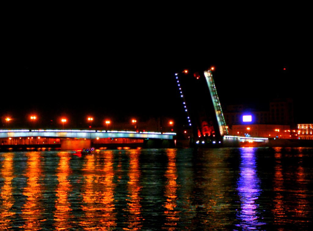 SPb. Night. Bridge...