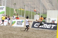 beach volleyball(0.0), sports(1.0), beach soccer(1.0), competition event(1.0), team sport(1.0), football(1.0), ball game(1.0), tournament(1.0),