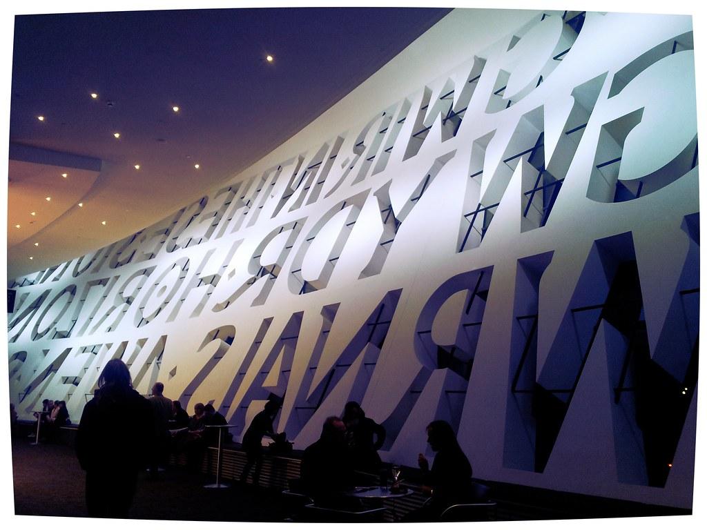 Wales Millennium Centre quote windows