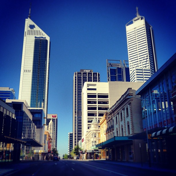 Perth CBD on a Sunday morning...