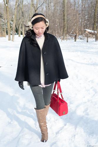 rwco poncho coat, poncho wool coat