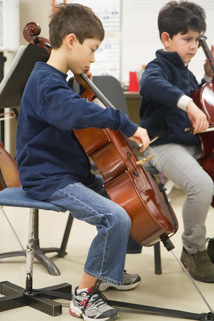 Elliott at Orchestra Practice