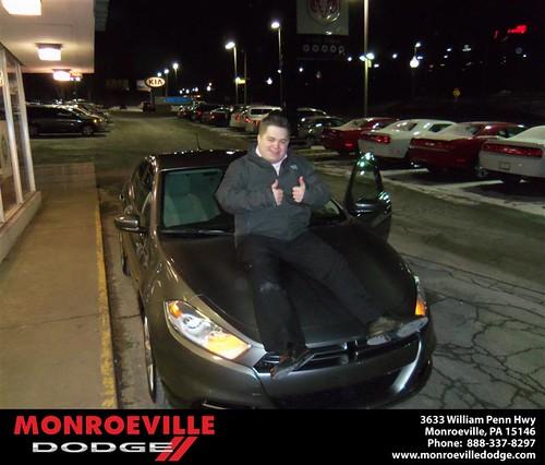 Congratulations to Geoffrey Burke on the 2013 Dodge Dart by Monroeville Dodge