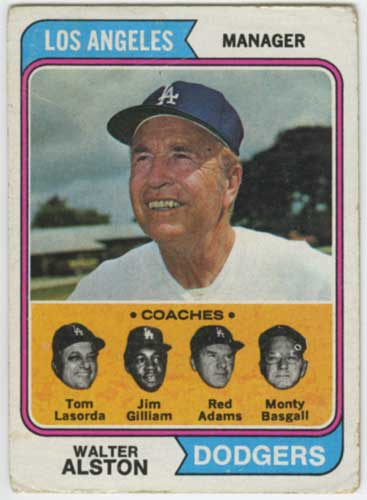 1974 Topps Dodgers Staff