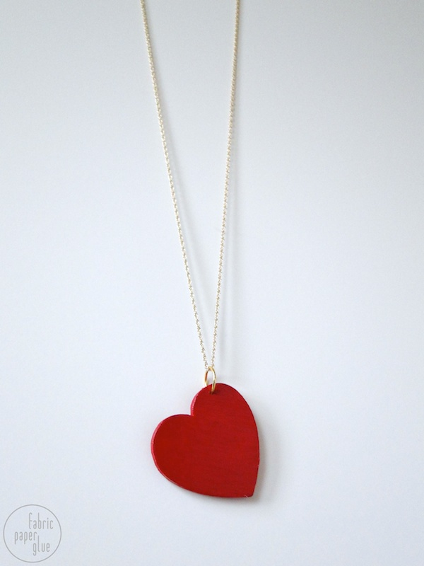 Wood Heart Necklace 8