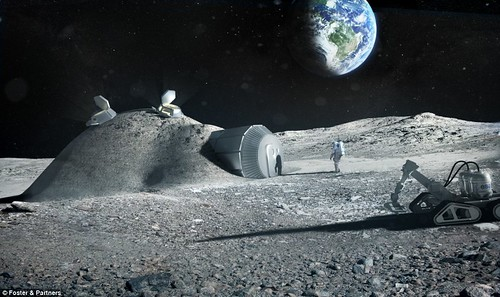 Европейцы предлагают напечатать лунную базу с помощью 3D-принтера