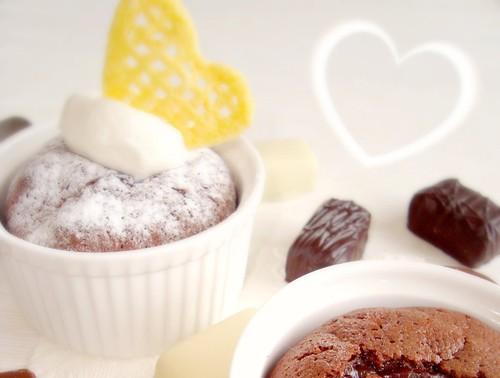 熔融巧克力蛋糕