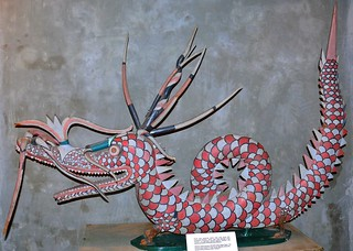 Melanau Wood Carving in form of the dragon figure used for healing ceremony