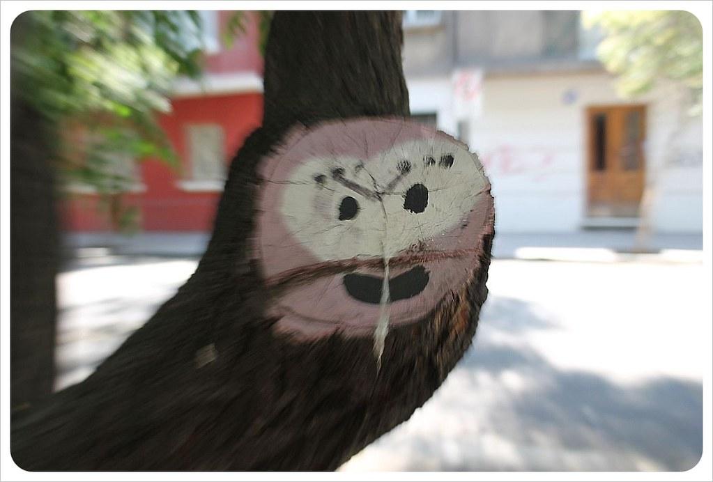 lastarria tree street art santiago