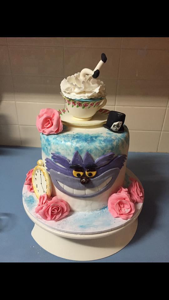 Alice in Wonderland by Jill Carnovale of Jill's Wicked Cake Skillz