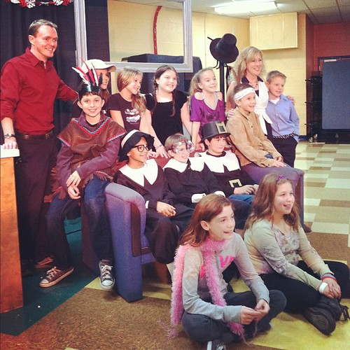 "The whole cast of ""Thanks For Giving"" (except my Maggie who was backstage as Stage Director) @aidan1scool @magpie26"
