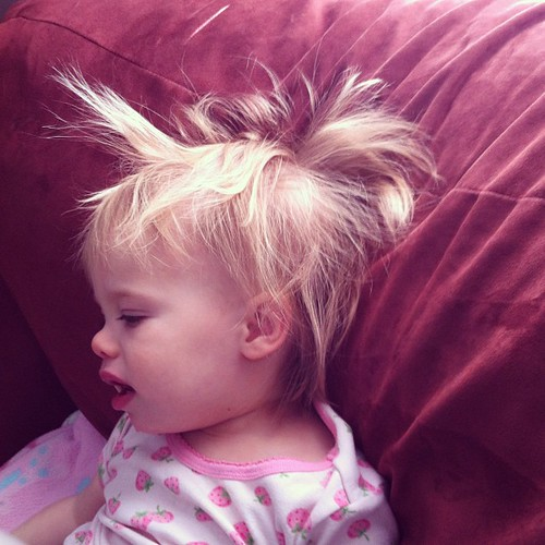 The bedhead on this child. I cannot even.